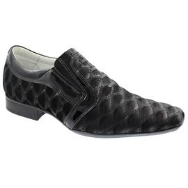 Sapato Social Masculino - F160439 Preto/Nobuck Metalasse - CALÇADOS ALCALAY