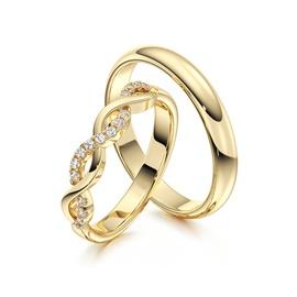 Aliança em Ouro 18k Trançada com Diamantes - Helder Joalheiros