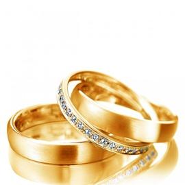 Aliança de Casamento e Bodas Glamour com Diamantes... - Helder Joalheiros