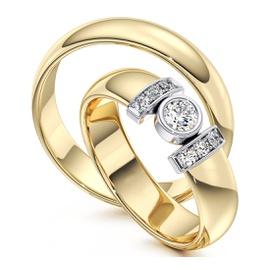 Aliança em Ouro 18k com Diamante de 30 Pontos - Helder Joalheiros