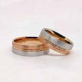 Aliança em Ouro de Casamento com Diamantes - Helder Joalheiros