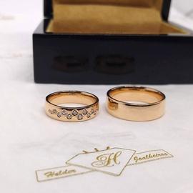 Aliança de Casamento e Noivado com Brilhantes - Helder Joalheiros