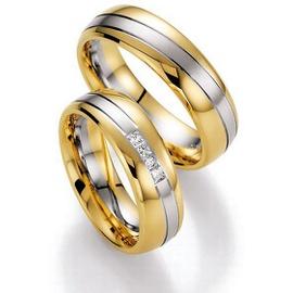 Aliança Bodas de Prata com Diamantes Princess - Helder Joalheiros