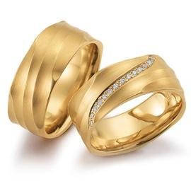 Aliança de Casamento 8,0 Milímetros com Diamantes - Helder Joalheiros