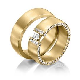 Aliança de Casamento - Cravejada com Diamantes - Helder Joalheiros