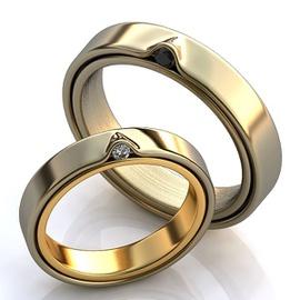 Aliança de Casamento - com Diamantes white e Black - Helder Joalheiros