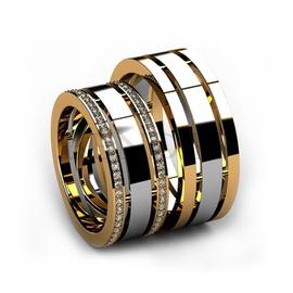 Aliança de Casamento - Ouro 18k com Diamantes - Helder Joalheiros