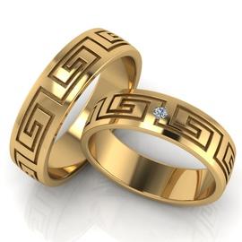 Aliança de Casamento - com Brilhantes Ouro 18k - Helder Joalheiros