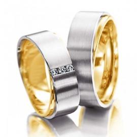 Aliança de Bodas com Diamantes - Helder Joalheiros