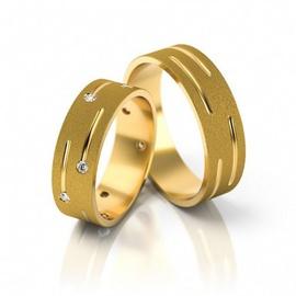 Aliança de Casamento Fosca com Diamantes - Helder Joalheiros
