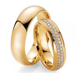 Aliança de Casamento com Brilhantes - Helder Joalheiros