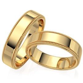 Aliança de Casamento em Ouro 18k Polido - Helder Joalheiros