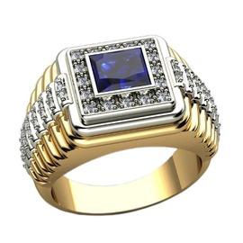 Anel de Formatura em Ouro 18k com Diamantes e Pedr... - Helder Joalheiros