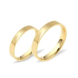 Aliança Reta com 3,5 Milímetros em Ouro 18k - Noiv... - Helder Joalheiros