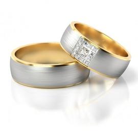 Alianças para Bodas de Prata - Ouro 18k 750 - Helder Joalheiros