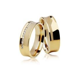 Aliança de Ouro - Casamento e Noivado Concava - Helder Joalheiros