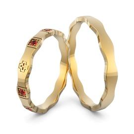 Aliança em Ouro 18k Personalizada com Pedras - Helder Joalheiros