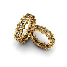 Aliança de Casamento - com Diamantes Ouro 18k 750 - Helder Joalheiros