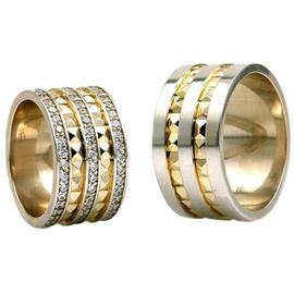 Aliança de Casamento com Diamantes 11 MM - Helder Joalheiros