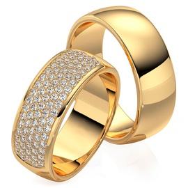 Aliança Eternity - Ouro 18k 750 - Cravejada com Di... - Helder Joalheiros