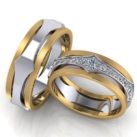 Aliança de Casamento e Bodas - com Diamantes - Our... - Helder Joalheiros
