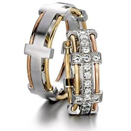 Alianças Ouro 18k Glamour - Casamento e Bodas de P... - Helder Joalheiros