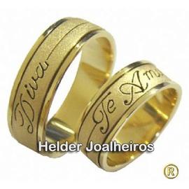 Aliança de Casamento com Gravação - Helder Joalheiros