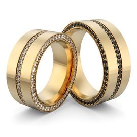 Alianças de Casamento com Diamantes - Helder Joalheiros