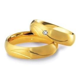 Aliança de Casamento- Ouro 18k com Diamantes - Helder Joalheiros