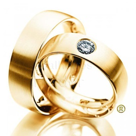 Aliança com Diamante - Helder Joalheiros