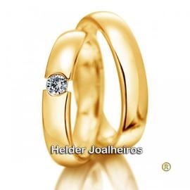 Aliança de Casamento com Diamantes - Helder Joalheiros