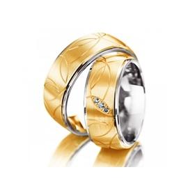 Aliança Bodas de Prata Trabalhada com Diamantes - Helder Joalheiros