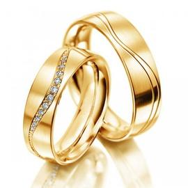 Aliança de Casamento - Ouro 18k com Brilhantes - Helder Joalheiros