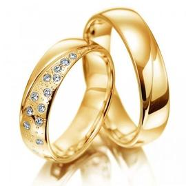 Aliança em Ouro 18k com Brilhantes - Helder Joalheiros