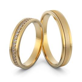Aliança em Ouro 18k Cravejada com Diamantes - Helder Joalheiros