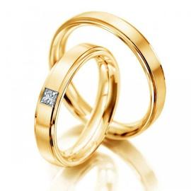 Aliança de Casamento com Diamante - Helder Joalheiros