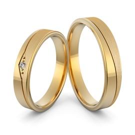 Aliança em Ouro 18k com Diamante - Helder Joalheiros