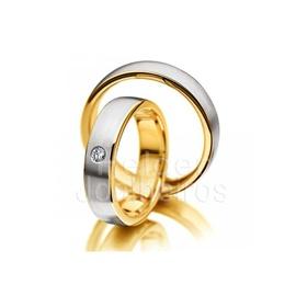 Aliança com Diamantes - Ouro 18k 750 - Helder Joalheiros