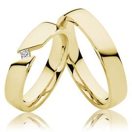 Aliança de Casamento com Diamante Prince - Helder Joalheiros