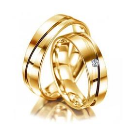 Aliança de Casamento com Brilhante - Helder Joalheiros