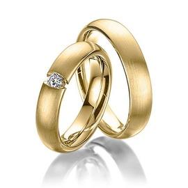 Aliança de Casamento - Ouro 18k com Diamante - Helder Joalheiros