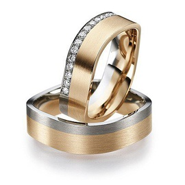 Aliança Quadrada em Ouro 18k com Diamantes - Helder Joalheiros
