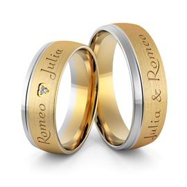 Aliança em Ouro 18k personalizada com nomes - Helder Joalheiros