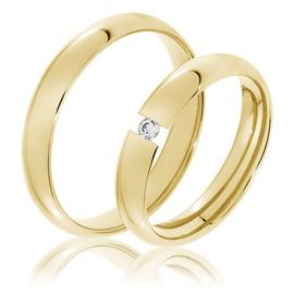 Aliança de Casamento 3,5 Milímetros com Brilhante ... - Helder Joalheiros