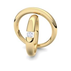 Aliança de Casamento com Diamantes de 10 Pontos - Helder Joalheiros