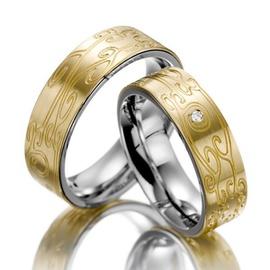 Aliança de Casamento Trabalhada com Diamantes - Helder Joalheiros
