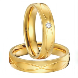 Aliança Trabalhada em Ouro 18k Com Diamante - Helder Joalheiros