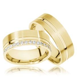 Aliança de Ouro 18k Cravejada com Diamantes - Helder Joalheiros