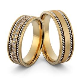 Alianças em Ouro 18k com Diamantes - Helder Joalheiros