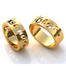 Aliança com Nome - Casamento e Noivado - Helder Joalheiros